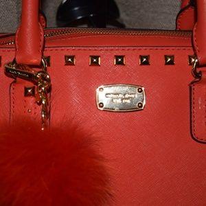 """Michael"" Michael Kors Studded Saffiano Leather"